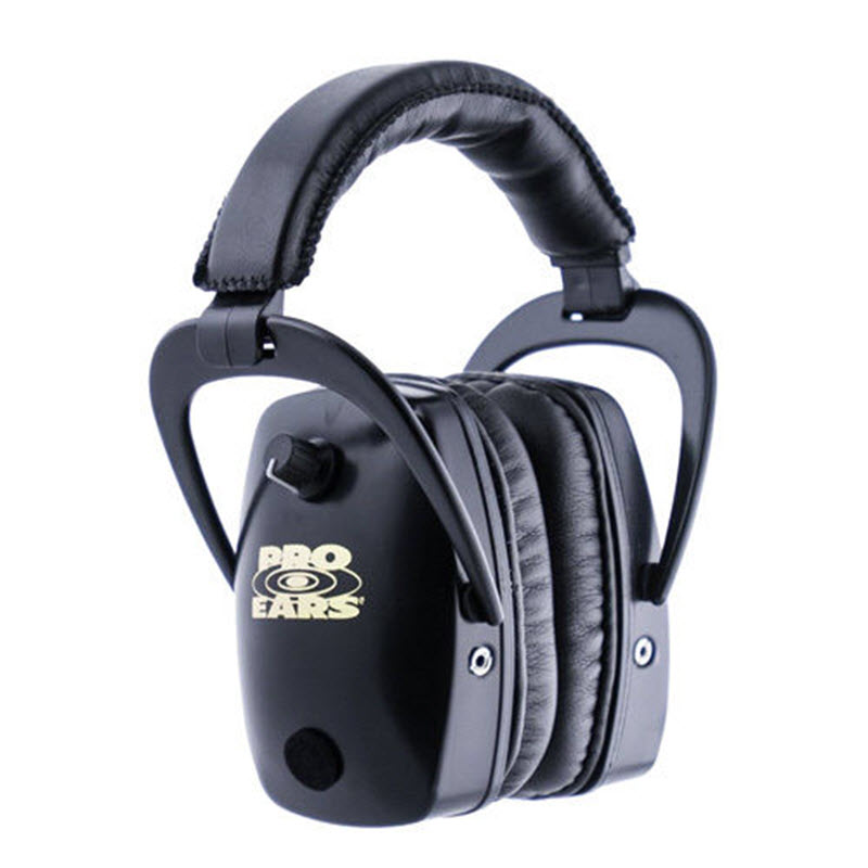 Altus Pro Ears Pro Slim Gold NRR 28: Electronic Ear Muffs, Black