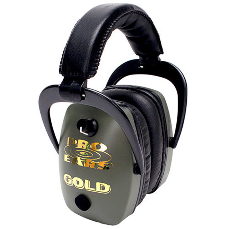 Altus Pro Ears Pro Slim Gold NRR 28: Electronic Ear Muffs, Green