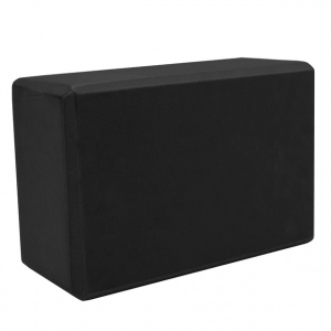 Large High Density Black Foam Yoga Block 9 x 6 x 4