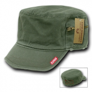 Rapid Dominance 35A Military Fatique Cap with Zipper: Olive