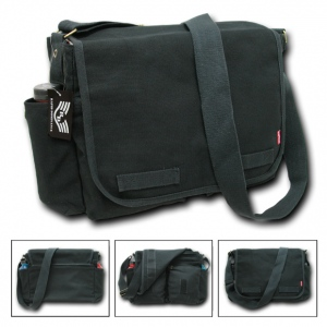 Rapid Dominance R31 Classic Military Messenger Bags: Black