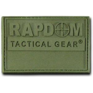 "Rapid Dominance T90 Tactical Rubber Patches: Olive, Rapdom, 3"" x 2"""