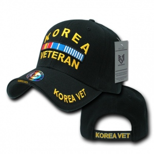 Rapid Dominance RD Embroidered Deluxe Military Baseball Cap: Black, Korea Vet