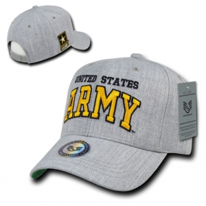 Rapid Dominance S016 Heather Grey Military Caps: Army
