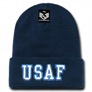 Rapid Dominance S81 Classic Military Beanies: Navy, USAF, Long