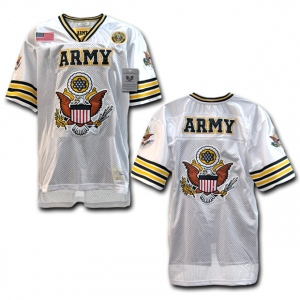 Rapid Dominance R11 Military Football Jersey: White, Army Eagle