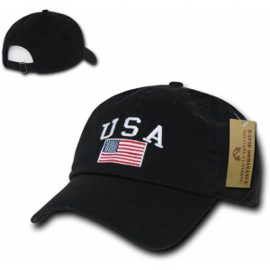 Rapid Dominance A03 Polo Style USA Caps: Black