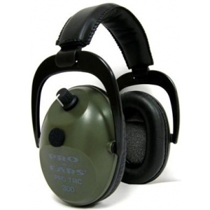 Altus Pro Ears Pro Tac Plus Gold NRR 26: Electronic Ear Muffs, Green, Behind the Head