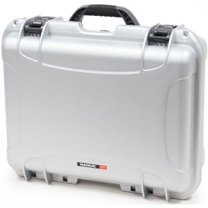 Plasticase Nanuk 930 Case with Cubed Foam and Padlock: Silver