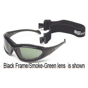 BSG-3 Matte Black Frame: Smoke-Green Lens