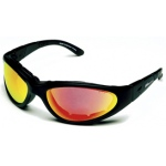 BSG Goggles Black Frame: Crimson Red Lens