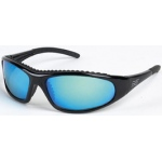 BSG Blaze Shiny Black Frame: Blue Mirror Lens
