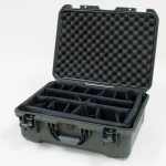 Plasticase Nanuk 940 Case with Padded Divider: Olive