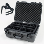 Plasticase Nanuk 940 Case with Padded Divider and Shoulder Strap: Graphite
