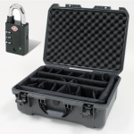Plasticase Nanuk 940 Case with Padded Divider and Padlock: Graphite