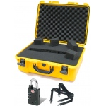 Plasticase Nanuk 940 Case with Cubed Foam, Padlock and Shoulder Strap: Yellow