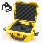 Plasticase Nanuk 905 Case with Cubed Foam and Shoulder Strap: Yellow