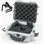 Plasticase Nanuk 905 Case with Cubed Foam and Shoulder Strap: Silver