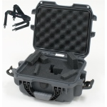 Plasticase Nanuk 905 Case with Cubed Foam and Shoulder Strap: Graphite