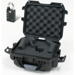 Plasticase Nanuk 905 Case with Cubed Foam and Padlock: Black