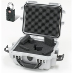 Plasticase Nanuk 905 Case with Cubed Foam and Padlock: Silver