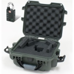 Plasticase Nanuk 905 Case with Cubed Foam and Padlock: Olive