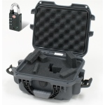 Plasticase Nanuk 905 Case with Cubed Foam and Padlock: Graphite