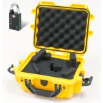 Plasticase Nanuk 905 Case with Cubed Foam and Padlock: Yellow
