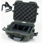 Plasticase Nanuk 905 Case with Padded Divider and Shoulder Strap: Olive