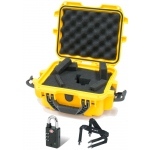 Plasticase Nanuk 905 Case with Cubed Foam, Padlock and Shoulder Strap: Yellow
