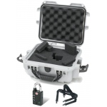 Plasticase Nanuk 905 Case with Cubed Foam, Padlock and Shoulder Strap: Silver