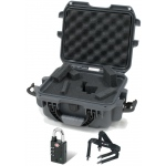 Plasticase Nanuk 905 Case with Cubed Foam, Padlock and Shoulder Strap: Graphite