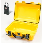 Plasticase Nanuk 915 Case with Padlock: Yellow