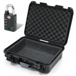 Plasticase Nanuk 905 Case with Foam Liner and Padlock: Black
