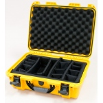 Plasticase Nanuk 925 Case with Padded Divider: Yellow