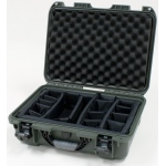 Plasticase Nanuk 925 Case with Padded Divider: Olive