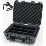 Plasticase Nanuk 920 Case with Padded Divider and Shoulder Strap: Graphite