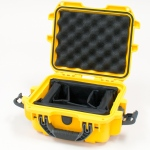 Plasticase Nanuk 905 Case with Padded Divider: Yellow