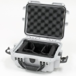Plasticase Nanuk 905 Case with Padded Divider: Silver
