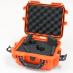 Plasticase Nanuk 905 Case with Cubed Foam: Orange