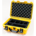 Plasticase Nanuk 915 Case with Padded Divider: Yellow