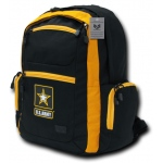 Rapid Dominance P05 Two Tone Backpack: Black/Gold, Army