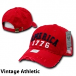 Rapid Dominance A01 USA Caps: Red, Vin Atheltic