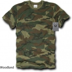 Rapid Dominance R38 Camo Cotton T-Shirt Tees: Woodland