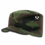 Rapid Dominance R603 Jeep Flat Knit Caps: Woodland Camo