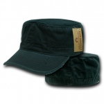 Rapid Dominance 101 Vintage BDU Fatique/Cotton Caps: Black