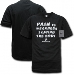 Rapid Dominance S28 Military Graphics T-Shirt: Black, Marines, Pain