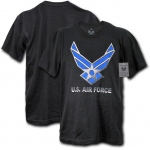 Rapid Dominance S27 30 Single Military Graphic Tee: Black, U.S. Air Force 2