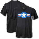 Rapid Dominance S27 30 Single Military Graphic Tee: Black, U.S. Air Force 4