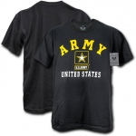 Rapid Dominance S27 30 Single Military Graphic Tee: Black, U.S. Army Classic